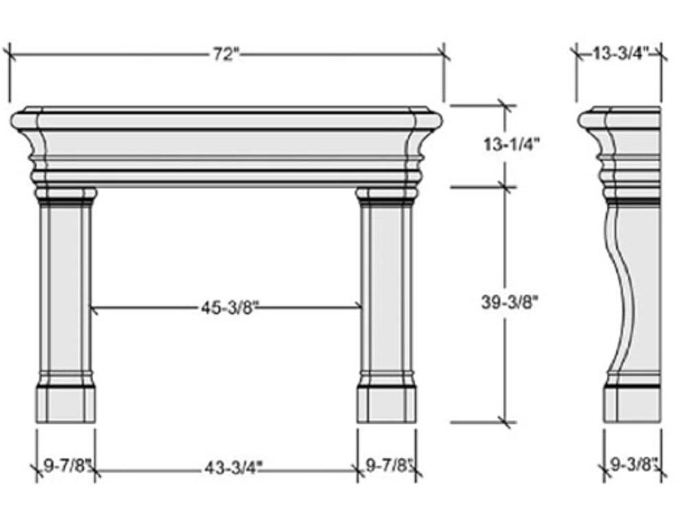 Empire Carmel_Stone_Mantel_Dimension_Diagram__35199_zoom resized fireplace hearth diagram traffic club