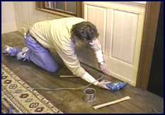 wainscot paneling installation - step 10