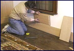 wainscot paneling installation - step 6