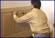 wainscot paneling installation - step 8