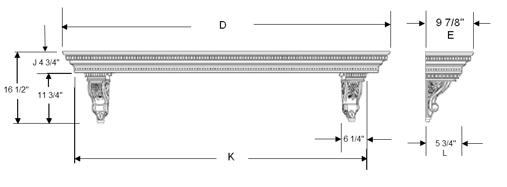 Mantel Shelf Specifications