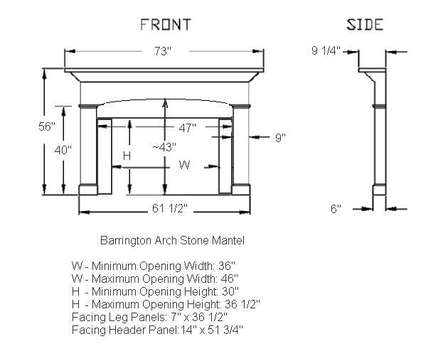 Barrington Mantel Illustration Diagram