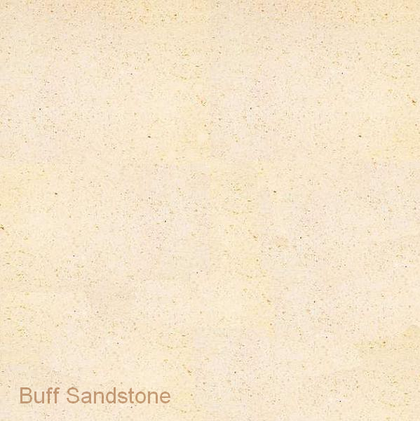 Travertina Stone and Buff Sandstone Mantel